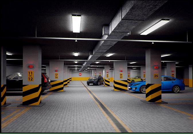 Системы видеонаблюдения для крытого паркинга